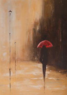 Red Umbrella by Marek Langowski Red Umbrella, 2011 Umbrella Painting, Umbrella Art, Pastel Art, Pictures To Paint, Oeuvre D'art, Painting & Drawing, Amazing Art, Watercolor Art, Art Drawings
