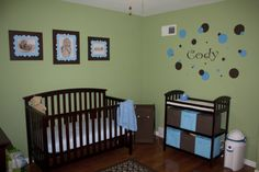 green nursery ideas | Green, Blue, & Brown Nursery - Nursery Designs - Decorating Ideas ...