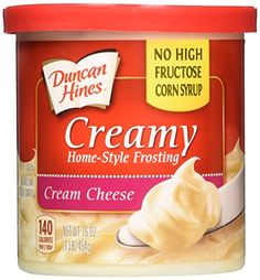 Duncan Hines Creamy Home Style Cream Cheese Frosting 16oz - 2 Containers * Haven't you heard that you can find more discounts at this image link : Baking supplies