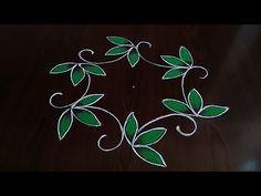 Very simple and easy beautiful peacocks rangoli (5×3) dot's.. - YouTube