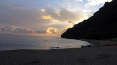 Dawn at Milolii camp, Hawaii, Na Pali, Kauai