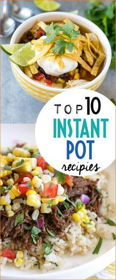 The Best of the Best Instant Pot Recipes. Instant Pot recipes that are quick and easy. Delicious barbacoa beef, soup, ribs, chicken and rice and more. How to make popcorn in an instant pot.