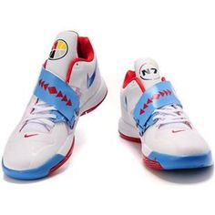 http://www.asneakers4u.com/ Kevin Durant Shoes   Nike Zoom KD 4 IV  White/Blue/Red