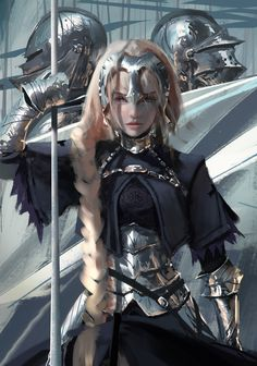 Anime 2807x4000 digital art artwork women portrait display anime looking at viewer Fate Series WLOP Jeanne d'Arc blonde long hair purple eyes armor knight Fate/Apocrypha  Ruler (Fate/Apocrypha)