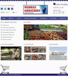 Website designing for madras groceries