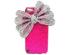 iPod Touch 5 Case, Pink Silver Bow iPod