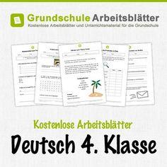 Kostenlose Arbeitsblätter und Unterrichtsmaterial für den Deutsch in der 4. Klasse in der Grundschule.