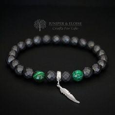 Mens Bracelet Matte Bracelet 925 Silver Feather Bracelet
