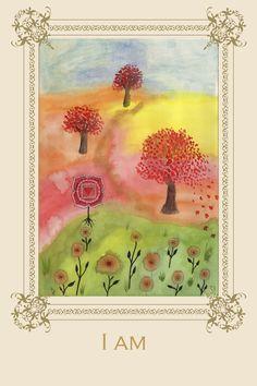 Tree Affirmation Card No 1  #maple #tree #muladhara #chakra #yoga #meditation #greetingcard #illustration