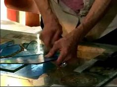 How to Make & Display a Stained-Glass Window : Cut Glass for Stained Glass