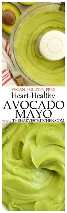 This Vegan Heart Healthy Avocado Mayo is a deliciously silky substitute for regular mayo. You'll enjoy spreading it on bread for sandwiches, on toast and topping it with a fried egg or slices of juicy tomato, in veggie wraps, or using it as a mayo for egg Gluten Free Recipes, Vegetarian Recipes, Cooking Recipes, Healthy Recipes, Chicken Salads, Avocado Chicken, Chicken Meals, Healthy Chicken, Great Recipes
