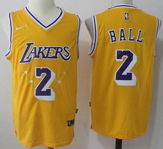 9e09dd216 Nike Lakers  2 Lonzo Ball Gold Throwback NBA Swingman Jersey Basketball  Legends