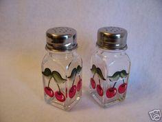 Cherries on Salt & Pepper Shakers