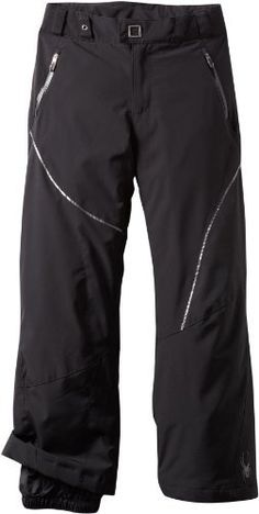 "Spyder Girl's Thrill Athletic Fit Pant, Black/Black/Black, 16 by Spyder. $110.00. Our ""girls just want to have fun"" pant. Flap back pockets, and asymmetrical lines, fun fun fun."