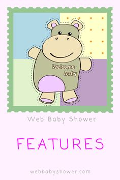 Lovely Features Available At Web Baby Shower For Your Virtual Baby Shower Party!