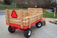 Source by xaviertinseau Trailer Plans, Trailer Build, Homemade Trailer, Dragon Wagon, Kids Wagon, Kids Atv, Pull Wagon, Tractor Attachments, Wooden Wagon