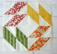 Nothing but half square triangles by geraldine