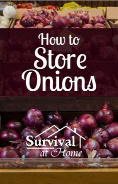 How to Store Onions | Survival at Home There are more ways to store onions than in a mesh bag. This article will teach you how to store onions in more ways than one!