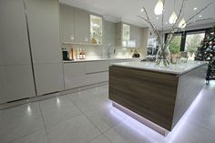 Luxury Modern German Kitchens UK from LWK Kitchens London | LWK Kitchens London - German Handleless Kitchen and Island - Discover more at www.lwk-home.com