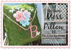 """""""No Sew Moss Pillow"""""""