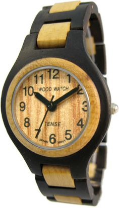 c2d9cc4889e Tense Wooden Watch - Men s Dark Sandalwood  Maple Watch Magnetic Necklace