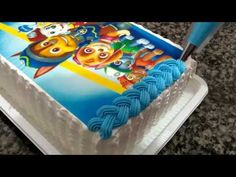 Bolo Mickey Chantilly, Pastel Paw Patrol, Torta Paw Patrol, Pastel Mickey, Paw Patrol Birthday Cake, New Cake, 3rd Birthday, Cake Decorating, Make It Yourself