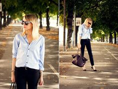 The blue shirt. #casual #outfit #blueshirt