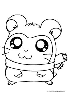 hamtaro coloring pages for kids. printable. online coloring. 3 ... - Cartoon Characters Coloring Pages