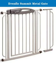Evenflo Summit Metal Gate. Secure Your Baby at Home with this Metal Pressure Gate Make the best use of the Evenflo Summit metal gate to ensure your baby's safety at home. This 32 inch metal gate in gladiator gray has an easy pass-through feature and blends well with all kinds of home decor. Easy to set up, this pass gate requires no tools for installation and has rubber bumpers on the side to protect your doors and furniture from damage. Equipped with a red-green lock indicator that can…