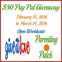 Enter to win one (1) $50 PayPal cash. Open worldwide. Daily entries! Ends on March 14, 2016.
