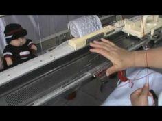 Confecção Em Lã Industrial 2/28 e Lã Grossa - Tricô À Máquina - Tutoriais: 71) Tricô A Máquina, Sapatinho Charmoso-profa.CLEUSA