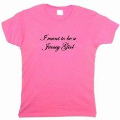 Flirty Diva Tees Woman's LooseFit T-Shirt-I want to be a Jersey Girl-Pink Azalea-Black (Apparel)  http://plrmakemoney.com/hit.php?p=B0066DY5XS  B0066DY5XS
