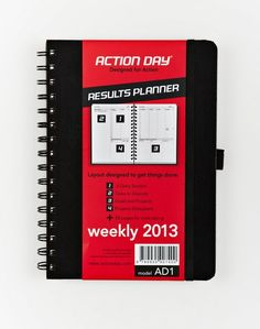 Action Day 2013 weekly planner- awesome layout.