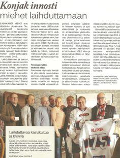 Miesten painonhallintaryhmästä innostui myös Farmi-lehti 6/2013 koko sivun jutulla, www.mezina.fi