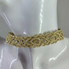 "Kropfband ""Charlene"" Kropf, Metallic Look, Salzburg, Band, Bracelets, Jewelry, Fashion, Celtic Patterns, To Draw"
