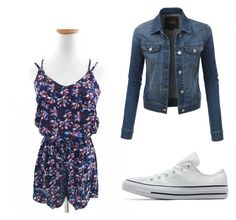 """Summer"" by bussmay on Polyvore featuring Converse and LE3NO"