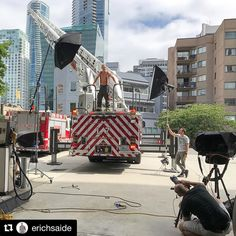 Behind the scenes by @erichsaide : BTS from day 2 shooting the @vancouverfirecalendar in downtown Vancouver. You really get to respect and see how busy these guys are when you are shooting from a working firehall. @erichsaide Assistant @vince.in.vancouver Director & Stylist: @stylebydona HMU @voilalounge . . . #firefightercalendar #calendarshoot #vancouver #vancouverphotographer #profotob1 #profotoglobal #profotocanada #profotousa #tethertools #shareyourlighting #erichsaide #nikonca #chari