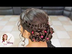 Peinado Fácil Y Elegante Para Graduación - YouTube Communion Hairstyles, Dance Hairstyles, Little Girl Hairstyles, Wedding Hairstyles, Curl Styles, Hair Styles, Lisa Hair, Girls Party Dress, Prom Hair