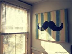 10 Cute Mustache Craft Projects …I want this wall art...will someone make it for me?!?!