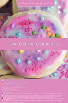 This Unicorn Cookie recipe is made with Cupcake Batter Protein Milkshake is the perfect breakfast, snack or dessert for your or healthy vegetarian diet. Milkshake Cupcakes, Protein Milkshake, Delicious Cookie Recipes, Yummy Cookies, Popular Food, Popular Recipes, Healthy Vegetarian Diet, Organic Protein Powder, Unicorn Cookies