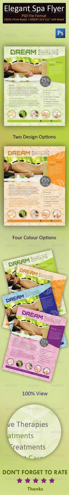 Elegant Spa/wellness Flyer