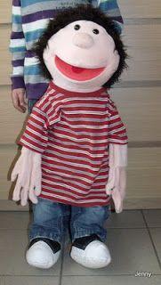 Anleitung fuer eine Klappmaulpuppe I Handpuppe / Living puppet / Therapiepuppe, klappmaul Therapie  Puppe