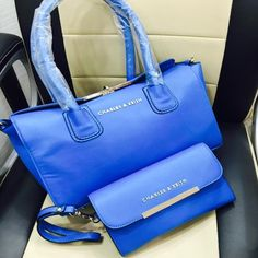 Charles & Keith Exclusive Ladies Handbags - Blue Lite