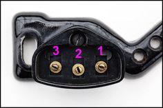 Wiring diagram for vintage Singers - Socket of vintage Singer sewing machine motor