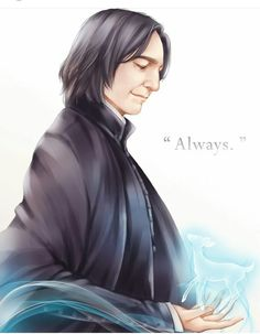 Severus Snape and his patronus Silver Doe