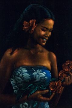 Velvet Underdogs: In Praise of the Paintings the Art World Loves to Hate - Velvet Art. One of the many beautiful Tahitian women Leeteg painted. (Courtesy of Brigham Young University Art Department Collection) Beauty Quotes For Women, Beauty Women, Velvet Painting, Tiki Art, Salon Names, Samoan Tattoo, Male Beauty, Video Photography, Woman Quotes