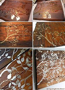 Stencil Some Wood Wall Art Pieces!
