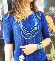 Colección Fusión, collar Cintas con Pulsera Collar, Turquoise Necklace, Jewelry, Fashion, Ribbons, Bracelet, Accessories, Moda, Jewlery