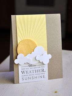 Sun & Clouds Card by Maile Belles for Papertrey Ink (June 2012)