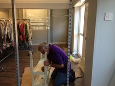 Our volunteer, Frank, is helping to build props for the NEW Charity Chicks shop, which will be open from October 2013 Shop Fittings, Charity, October 2013, Volunteers, Events, Shopping, Star, Home Decor, Decoration Home